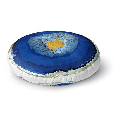 Oriana Cordero Agate Blue Round Floor Pillow Size: 26 x 26