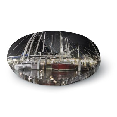 Philip Brown Dinner Key Marina Coastal Round Floor Pillow Size: 26 x 26