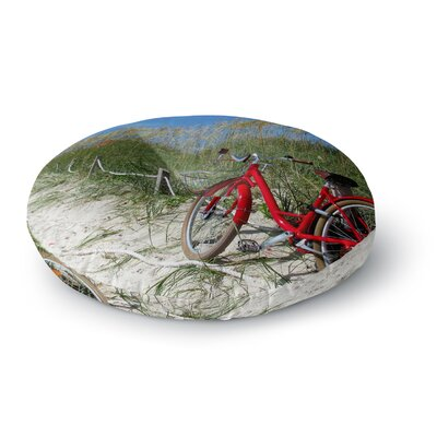 Philip Brown A Day At the Beach Round Floor Pillow Size: 26 x 26