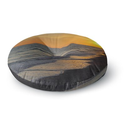 Philip Brown Sunset Beach Round Floor Pillow Size: 23 x 23