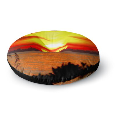 Philip Brown Sunrise on Sanibel Round Floor Pillow Size: 26 x 26