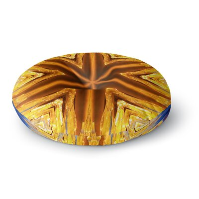 Philip Brown Gold Star Icicles Round Floor Pillow Size: 23 x 23