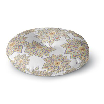 Pom Graphic Design Floral Dance Round Floor Pillow Size: 26 x 26