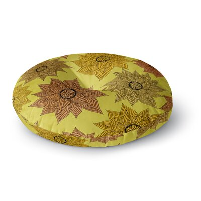 Pom Graphic Design Its Raining Flowers Round Floor Pillow Size: 26 x 26