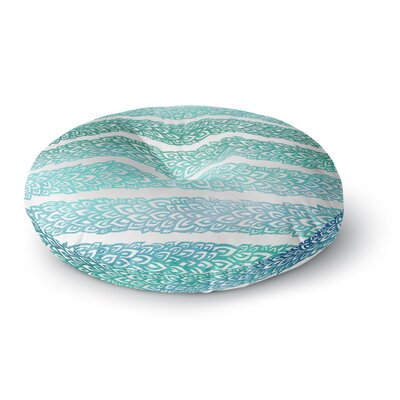 Pom Graphic Design Leafs from Paradise II Round Floor Pillow Size: 23 x 23