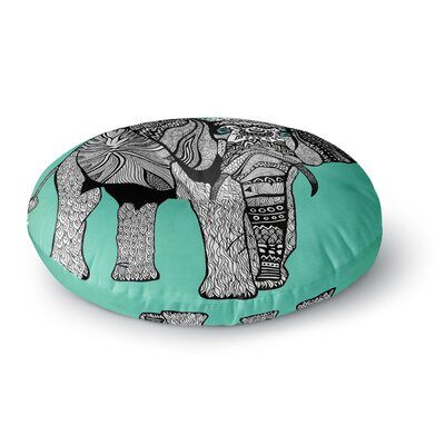 Pom Graphic Design Elephant of Namibia Color Round Floor Pillow Size: 26 x 26