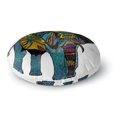 Pom Graphic Design Elephant of Namibia Round Floor Pillow Size: 23 x 23