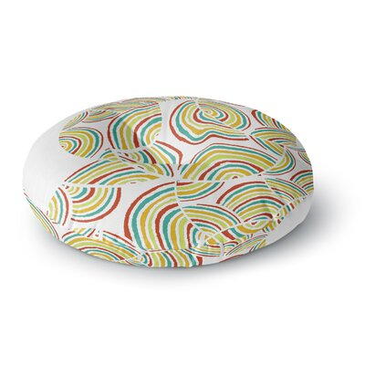 Pom Graphic Design Rainbow Sky Round Floor Pillow Size: 26 x 26