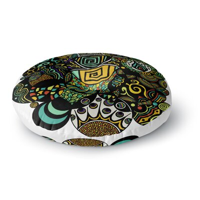 Pom Graphic Design Multicolor Life Round Floor Pillow Size: 23 x 23