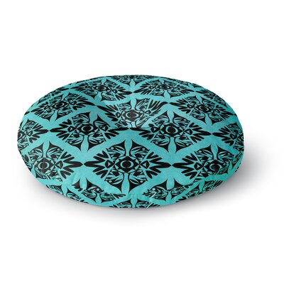 Pom Graphic Design Eye Symmetry Pattern Round Floor Pillow Size: 26 x 26
