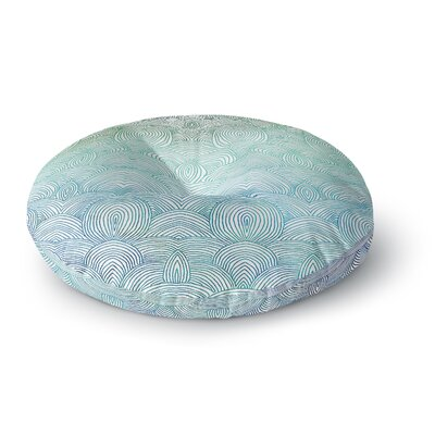 Pom Graphic Design Clouds in the Sky Round Floor Pillow Size: 26 x 26