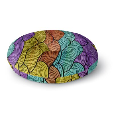 Pom Graphic Design Textiles Round Floor Pillow Size: 26 x 26