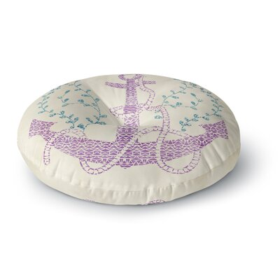 Pom Graphic Design Tribal Nautica II Round Floor Pillow Size: 26 x 26