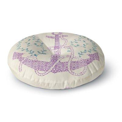 Pom Graphic Design Tribal Nautica II Round Floor Pillow Size: 23 x 23