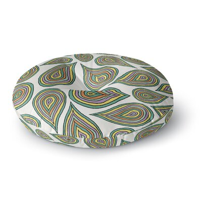 Pom Graphic Design Its Raining Leaves Round Floor Pillow Size: 26 x 26