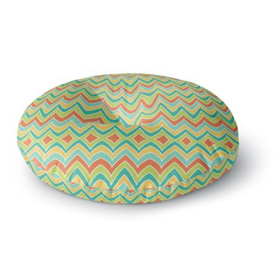 Pom Graphic Design Bright and Bold Round Floor Pillow Size: 23 x 23