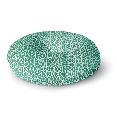 Pom Graphic Design Tribal Forrest Round Floor Pillow Size: 26 x 26