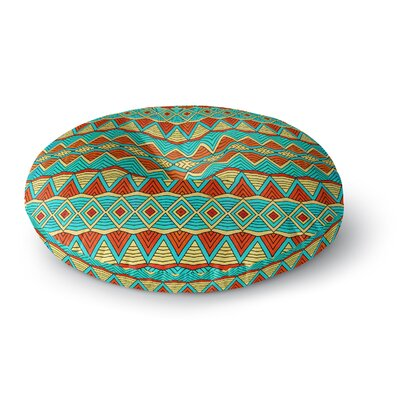 Pom Graphic Design Tribal Soul Round Floor Pillow Size: 26 x 26