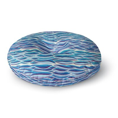 Pom Graphic Design The High Sea Round Floor Pillow Size: 26 x 26