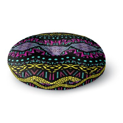 Pom Graphic Design Tribal Dominance Round Floor Pillow Size: 26 x 26