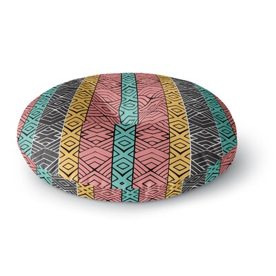 Pom Graphic Design Artisian Round Floor Pillow Size: 23 x 23