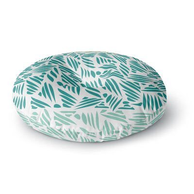 Pom Graphic Design Bamboo Round Floor Pillow Size: 23 x 23