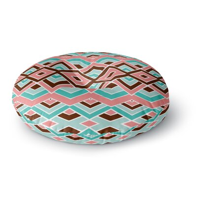 Pom Graphic Design Eclectic Round Floor Pillow Size: 23 x 23