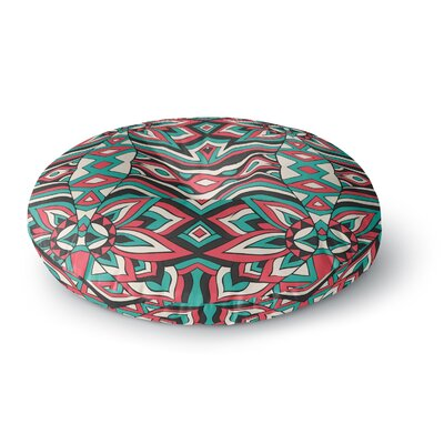 Pom Graphic Design Ethnic Floral Mosaic Round Floor Pillow Size: 23 x 23