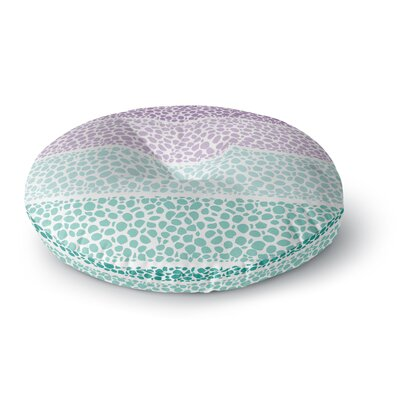 Pom Graphic Design Riverside Pebbles Colored Round Floor Pillow Size: 26 x 26