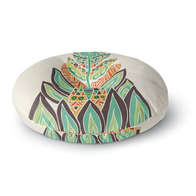 Pom Graphic Design Tribal Feather Round Floor Pillow Size: 26 x 26