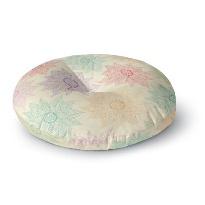 Pom Graphic Design 'Spring Florals' Rainbow Round Floor Pillow Size: 26
