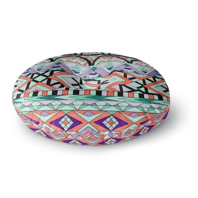 Pom Graphic Design Tribal Invasion Abstract Round Floor Pillow Size: 26 x 26
