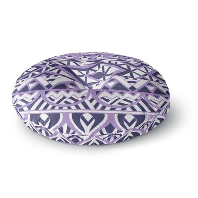 Pom Graphic Design 'Tribal Simplicity II' Round Floor Pillow Size: 26