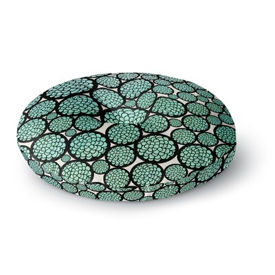 Pom Graphic Design Blooming Trees Circles Round Floor Pillow Size: 26 x 26