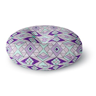 Pom Graphic Design Geometric Flow Geometric Round Floor Pillow Size: 23 x 23