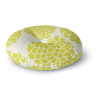 Pom Graphic Design Grape Blossoms Circles Round Floor Pillow Size: 26 x 26