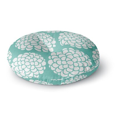 Pom Graphic Design Hydrangeas Blossoms Circles Round Floor Pillow Size: 23 x 23