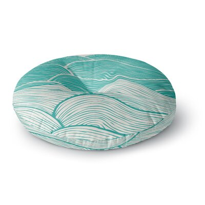Pom Graphic Design The Calm and Stormy Seas Round Floor Pillow Size: 23 x 23