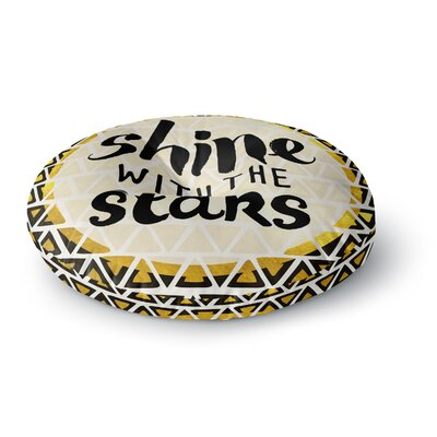 Pom Graphic Design Shine with the Stars Round Floor Pillow Size: 23 x 23