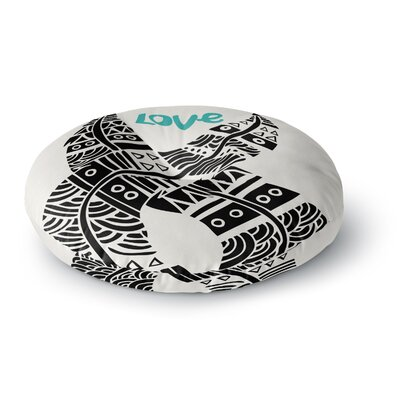 Pom Graphic Design United Love Tribal Round Floor Pillow Size: 23 x 23