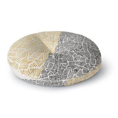 Pom Graphic Design Inca Day & Night Round Floor Pillow Size: 26 x 26