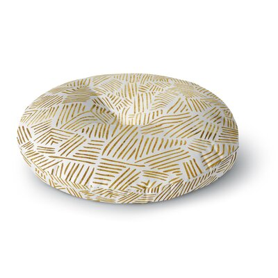 Pom Graphic Design Inca Gold Trail Round Floor Pillow Size: 26 x 26
