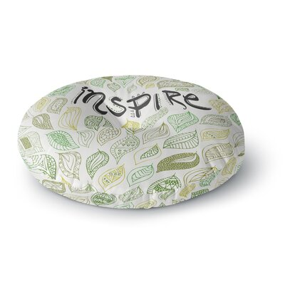Pom Graphic Design Inspire Nature Round Floor Pillow Size: 26 x 26