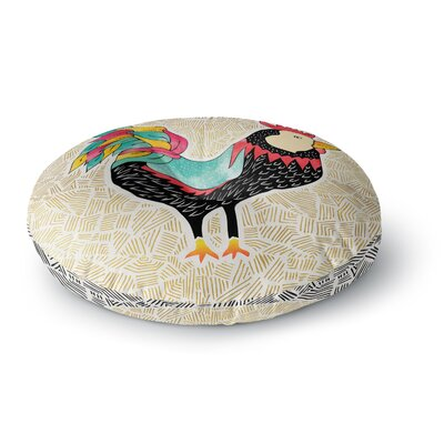 Pom Graphic Design Cuckaroo Rooster Round Floor Pillow Size: 26 x 26