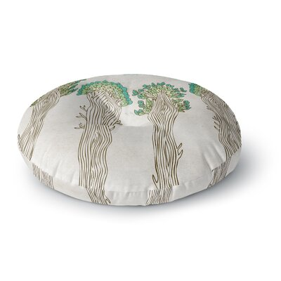 Pom Graphic Design Amazon Trees Nature Round Floor Pillow Size: 23 x 23
