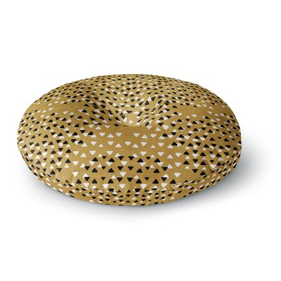 Pom Graphic Design Golden Sky Round Floor Pillow Size: 26 x 26