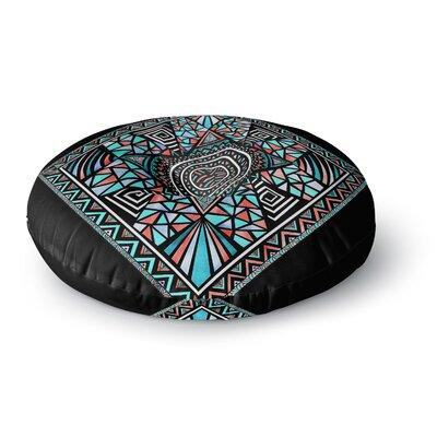 Pom Graphic Design Geo Glass Round Floor Pillow Size: 26 x 26
