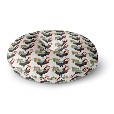 Pom Graphic Design The Rooster Squad Round Floor Pillow Size: 23 x 23