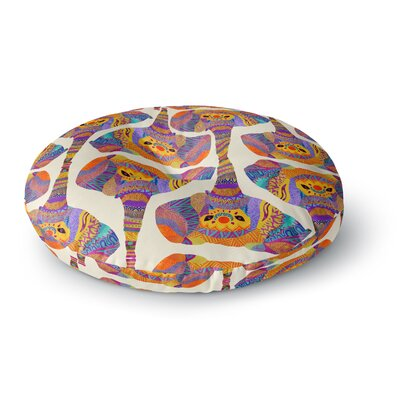 Pom Graphic Design Elephant Play Animal Print Round Floor Pillow Size: 26 x 26