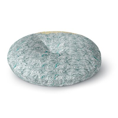 Pom Graphic Design Sunny Tribal Seas II Ocean Round Floor Pillow Size: 26 x 26